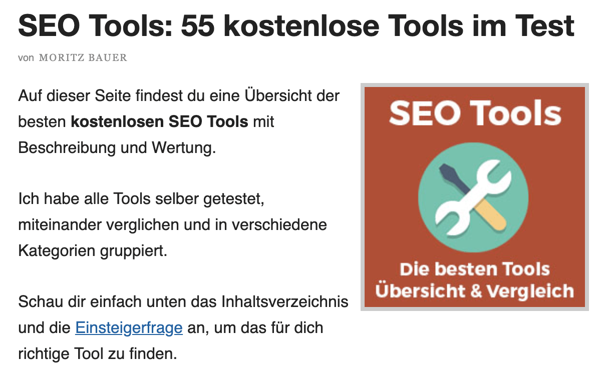 Ressourcenseiten mit Backlinks