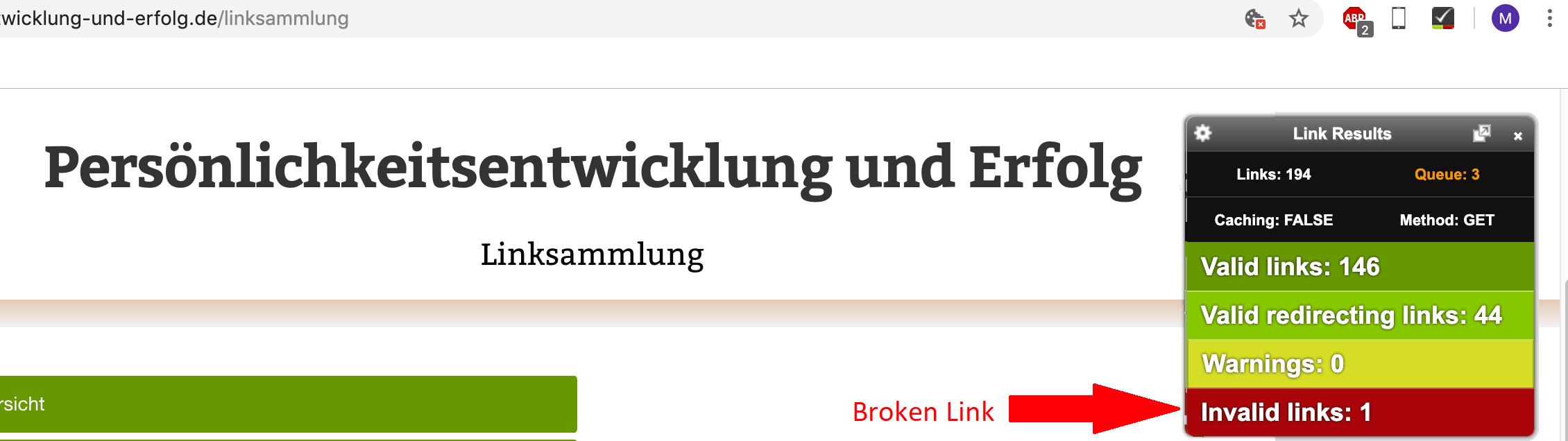 kaputter Backlink, der ausgetauscht gehört