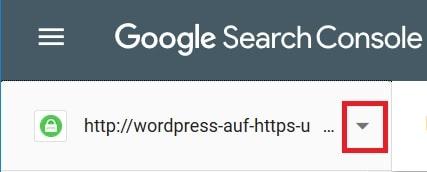 Wordpress auf HTTPS umstellen - Google Search Console Property hinzufügen